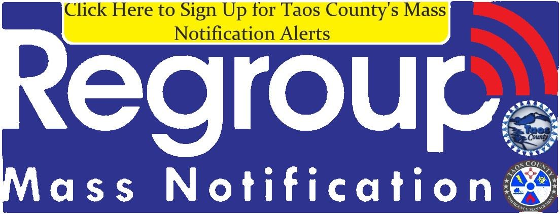 Link to Sign Up for Taos County's Mass Notifications
