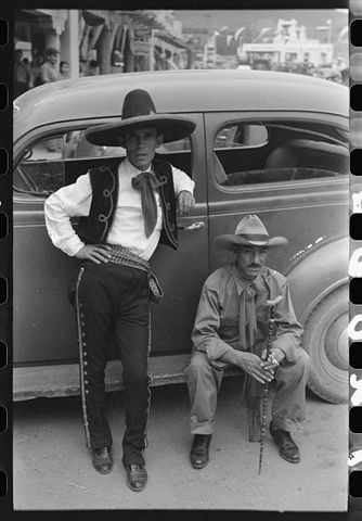 Spanish American Men at Taos Fiestas 1940