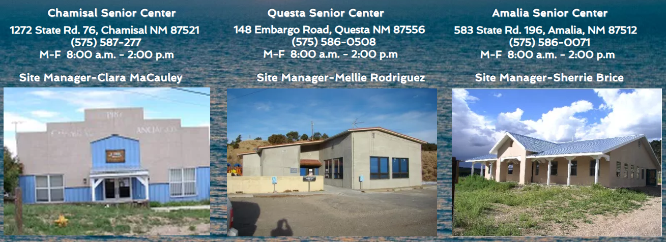Senior Center strip photo of the three locations