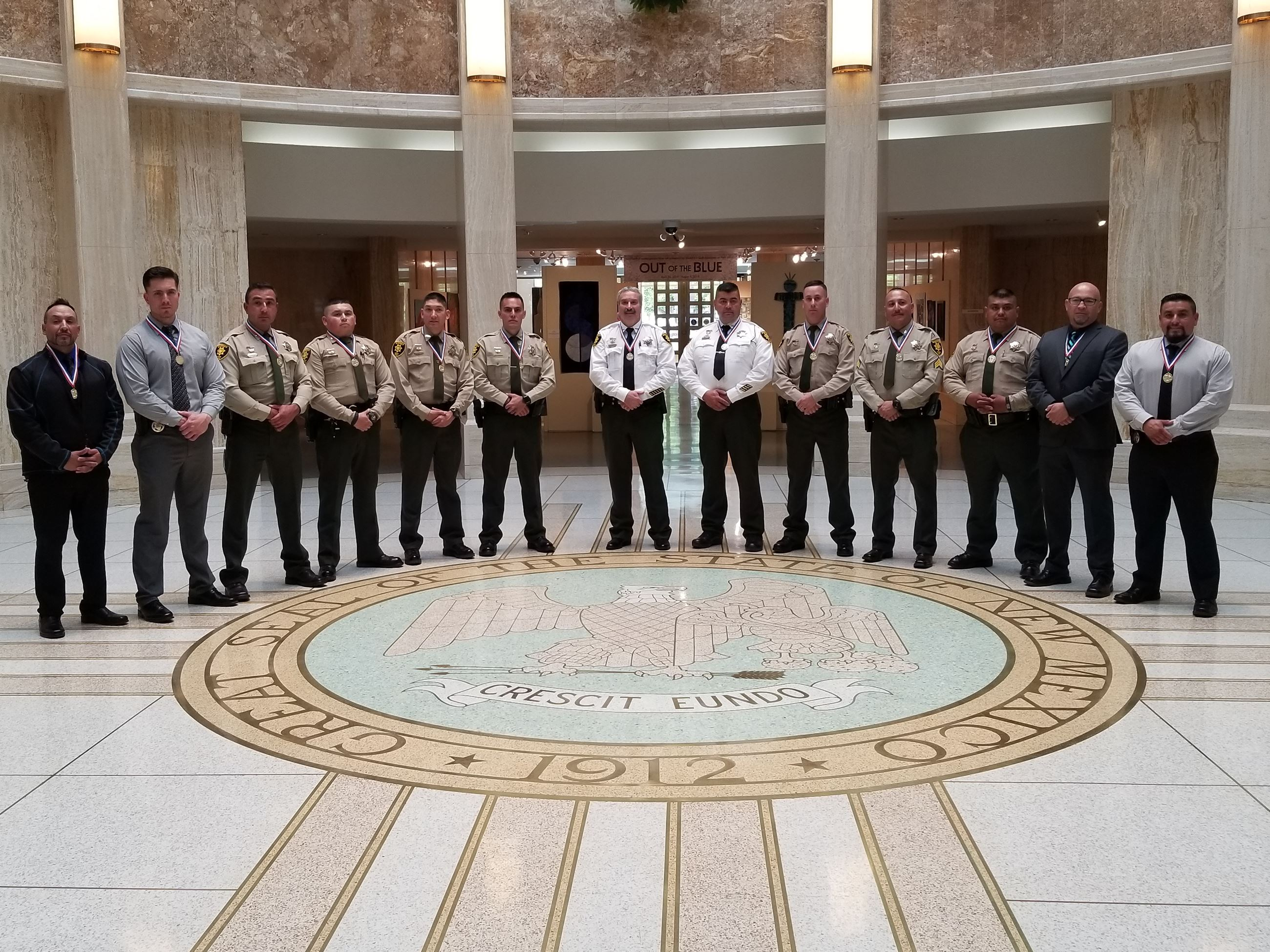 Officers in State Capital Building