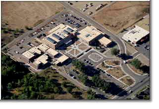 Aerial view of Taos County Complex